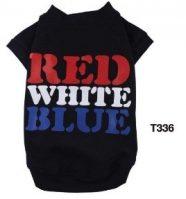 חולצה לכלב עם כיתוב - red white blue