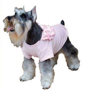 חולצה פנינה ורוד לכלבה
