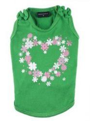 חולצה ירוקה עם פרחים לכלב
