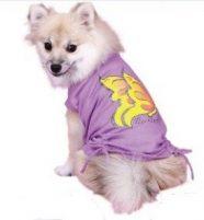חולצה סגולה לכלב - פרפר