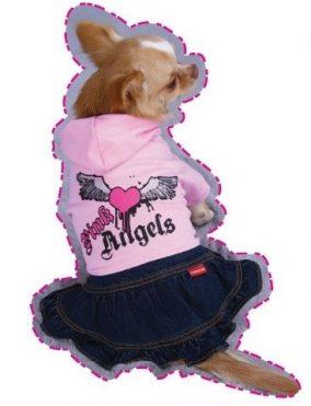 שמלת מלאך ורוד לכלב