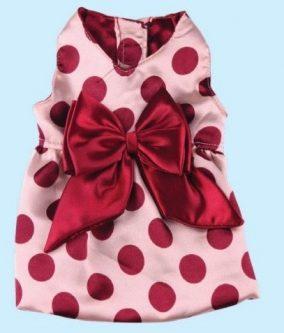 שמלת אגן מנוקדת לכלב
