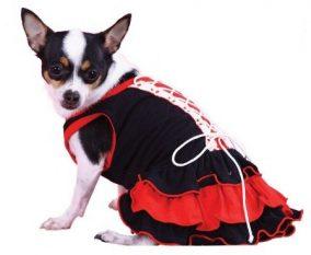 מחוך שחור אדום לכלב